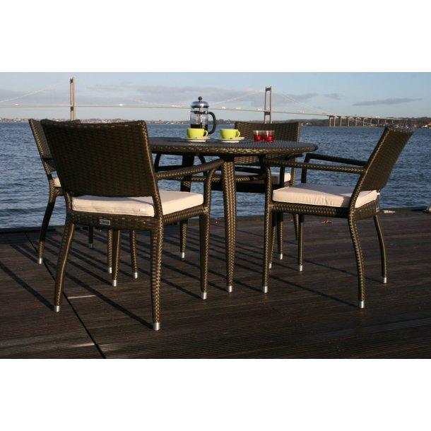 4x SitOnIt stole og 1x SpEyeder bord ø120