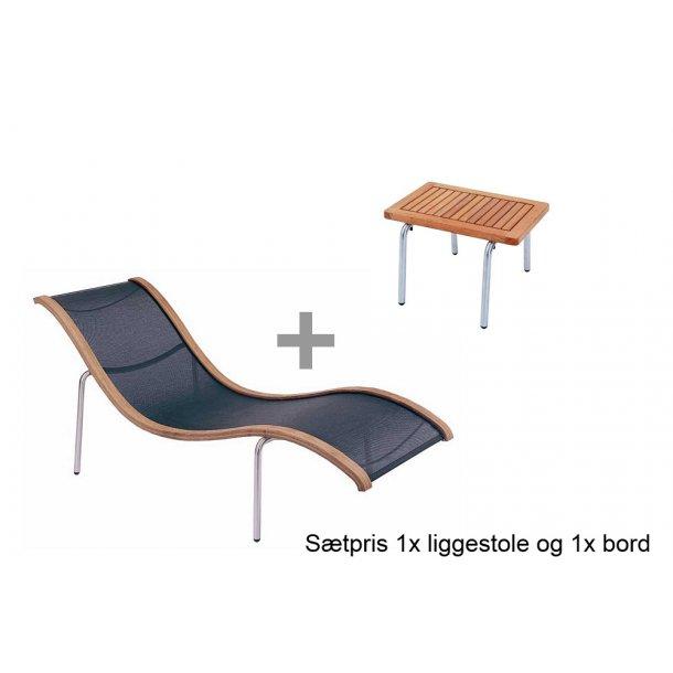 S'Line lounger og sidebord