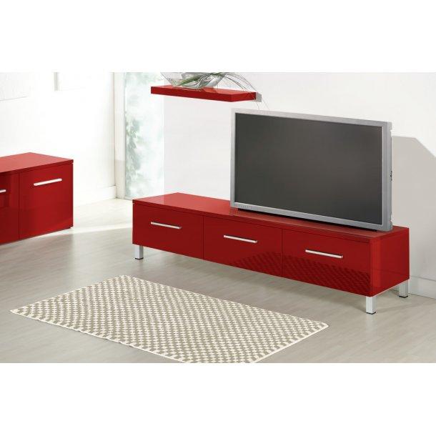 SORT Brillante TV-bord med 3 skuffer