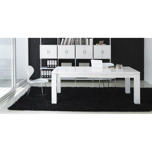 Venice Spisebord med udtræk i hvid 200/290x90